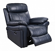 JOPLIN POWER RECLINER- BLUE TOP-GRAIN LEATHER