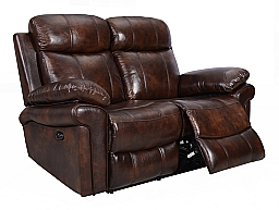 JOPLIN POWER RECLINING LOVESEAT- BROWN TOP-GRAIN LEATHER