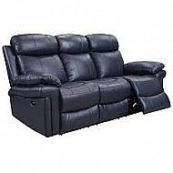 JOPLIN POWER SOFA- BLUE TOP-GRAIN LEATHER