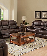 KENWOOD- PREMIER BROWN RECLINING LOVESEAT