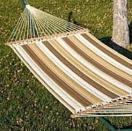 LARGE QUILTED HAMMOCK-RIO BIRCH  BROWN STRIPE