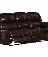 LEGATO- DUAL RECLINER SOFA- DARK BROWN LEATHER
