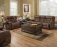 DOUBLE MOTION LOVESEAT W/CONSOLE-  DORADO WALNUT