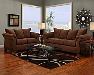 LOVESEAT ARUBA CHOCOLATE 70 x 38 x 41