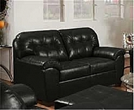 LOVESEAT- SOHO ONYX  BONDED LEATHER