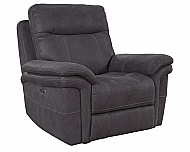 MASON RECLINER- CHARCOAL POWER RECLINING W/ USB & POWER HEADREST