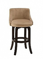 NAPA VALLEY SWIVEL BAR STOOL - TEXTURED KHAKI FABRIC