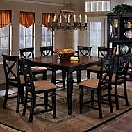 NORTHERN HEIGHTS COUNTER HEIGHT 42 X 60 TABLE W/18 LEAF -SQUARE TABLE-36H