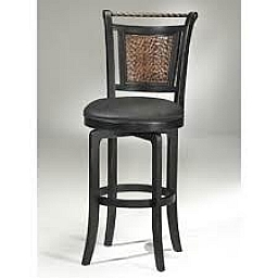 NORWOOD SWIVEL BAR STOOL BLACK