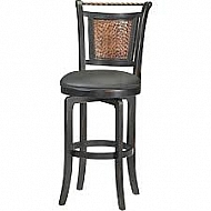 Norwood Swivel Counter Stool BLACK