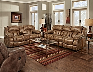 PADRE ALMOND-RECLINING LOVESEAT W/ CONSOLE