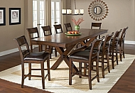 PARK AVENUE- 11 PIECE COUNTER HEIGHT DINING SET