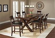 PARK AVENUE 7-PIECE COUNTER HEIGHT DINING SET