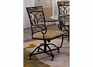 POMPEI CASTER DINING CHAIR -SET OF 2