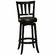 PRESQUE ISLE WOOD SWIVEL COUNTER STOOL - black