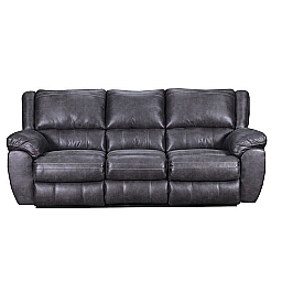 RECLINING SOFA- SHILOH GRANITE- BEAUTYREST COLLECTION