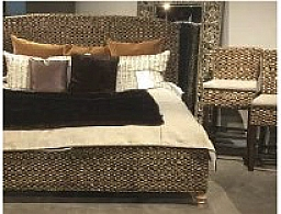 REDONDO HAND WOVEN SEAGRASS QUEEN BED