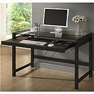 RITA HOME OFFICE DESK WITH GLASS TOP