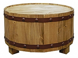 ROUND BARREL COCKTAIL  TABLE