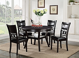 ROUND DINING 5 PC SET EBONY 47 X 47