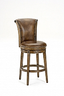 RUSSELL SWIVEL COUNTER STOOL BROWN