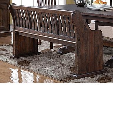 SAN JUAN DINING BENCH  DISTRESSED ESPRESSO