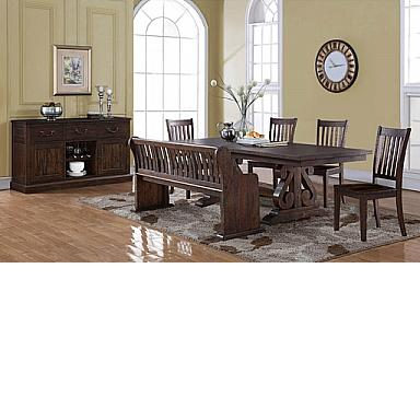 SAN JUAN DINING BENCH  DISTRESSED ESPRESSO.