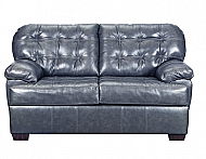SOFT TOUCH LOVESEAT- FOG  GENUINE LEATHER