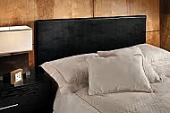 SPRINGFIELD UPHOLSTERED HB - FULL/QUEEN - BLACK PU