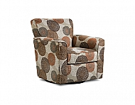 SWIVEL CHAIR- CRYSANTHEMUM PERSIMMON / CANOGA MULTI