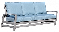 SYMPHONY- ALUMINUM OUTDOOR SOFA- WEATHERED GRAY