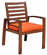 SYMPHONY- OUTDOOR ARM CHAIR- MAHOGANY