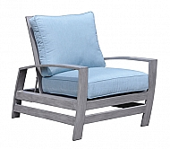 SYMPHONY- RECLINER BACK LOUNGE CHAIR- WEATHERED GRAY
