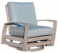 SYMPHONY- SWIVEL GLIDER LOUNGE CHAIR- WEATHERED GRAY