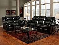 TAOS BLACK MOTION SOFA 93X41X39