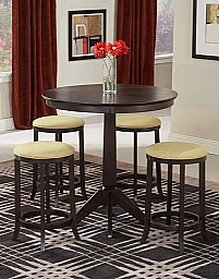 TIBURON PUB TABLE WITH 4 BACKLESS STOOLS