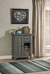 Tuscan Retreat® Coffee Cabinet with 2 Shelves/Baskets - Nordic Blue