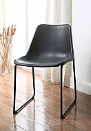 VALGUS- SET OF 2 VINTAGE BLACK CHAIR