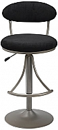 VENUS SWIVEL BAR STOOL- BLACK SUEDE
