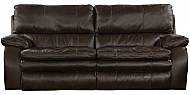 VERONA- CHOCOLATE TOP GRAIN LEATHER POWER HEADREST POWER LAYFLAT RECLINING SOFA