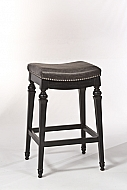VETRINA- BACKLESS COUNTER STOOL- BLACK