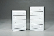 White 4Drawer Promo Chest