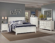 WHITE TAMARACK CHEST DRESSER MIRROR NIGHT STAND QUEEN BED