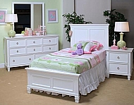 WHITE TAMARACK TWIN BED