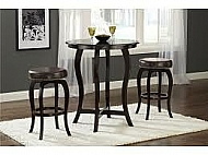 WILMINGTON 3 PIECE BAR HEIGHT BISTRO SET- BROWN VINYL