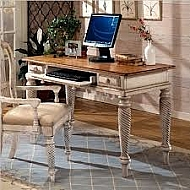 WILSHIRE DESK- ANTIQUE WHITE/PINE
